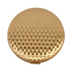"""Elizabeth Arden Gilded Gold """"Basket Weave"""" Compact"""