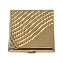 "Estee Lauder Gilded Gold ""Swirl"" Compact"