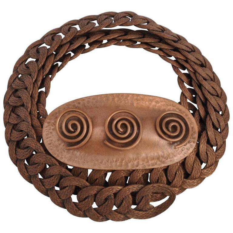 Renoir Gilded Copper Multi Chain Link Adjustable Hook Belt