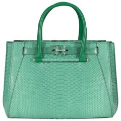 VBH Madison 32cm Jungle Python and Lizard Top Handle Tote