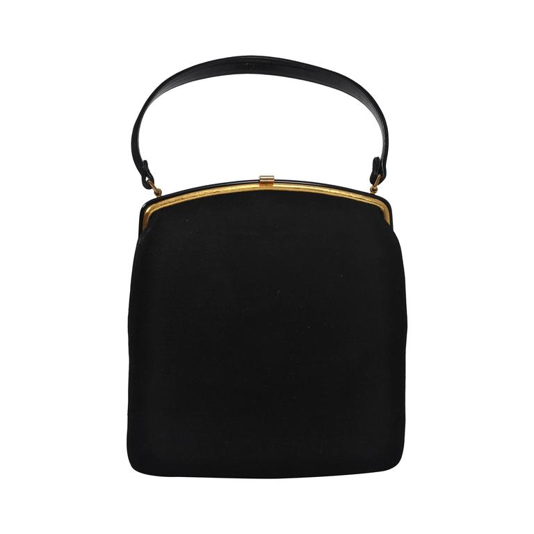 Coblentz 1960s Black Suede Handbag 1