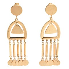 Pair of Moderne Vintage Vendome Dangle Screw Back Earrings
