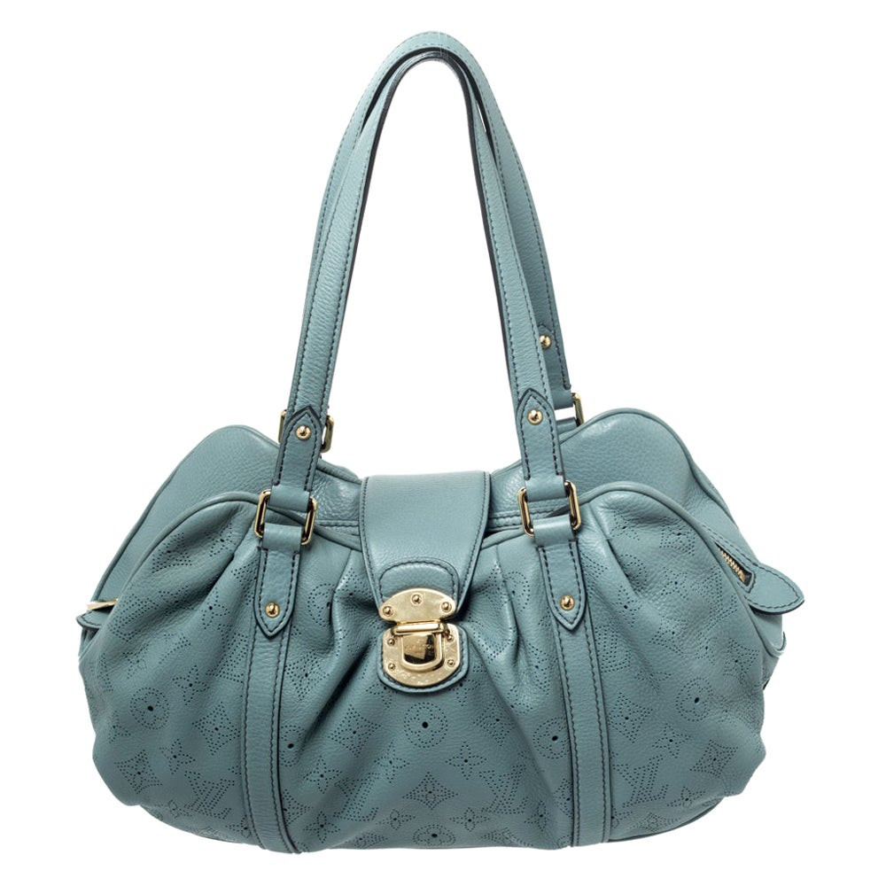 Louis Vuitton Ciel Mahina Leather Lunar PM Bag