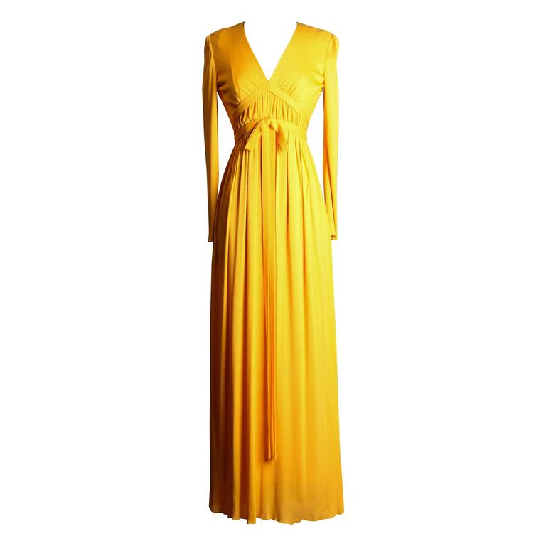 1970s Elinor Simmons for Malcolm Starr Silk Jersey Dress