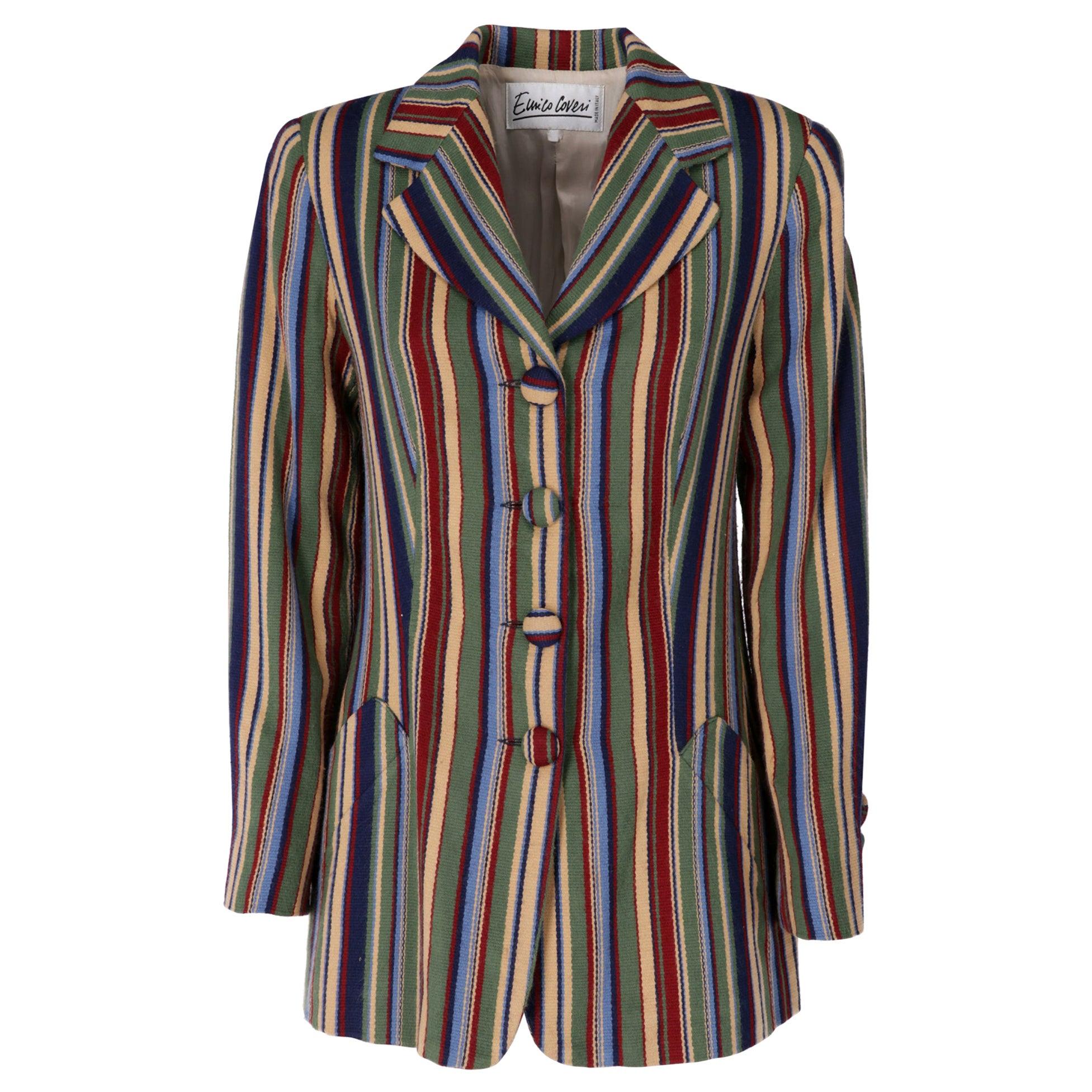 1990s Enrico Coveri Multicolour Wool Blazer