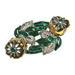 Coro Flower Twist Tremblant Brooch