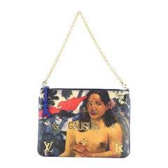 Louis Vuitton Pochette Clutch Limited Edition Jeff Koons Gauguin Print Ca