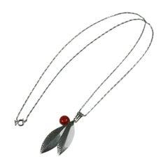 Jacob Bengel  Machine Age  Leaf Pendant Necklace