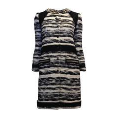 Proenza Schouler Black and White Tweed Coat