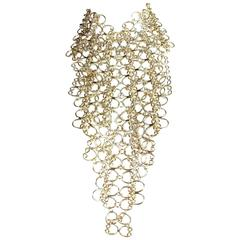 1960's Pauline Trigere Massive Statement Bib Necklace