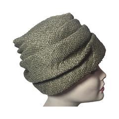 1950s Pertegaz Olive Buckram Turban Hat