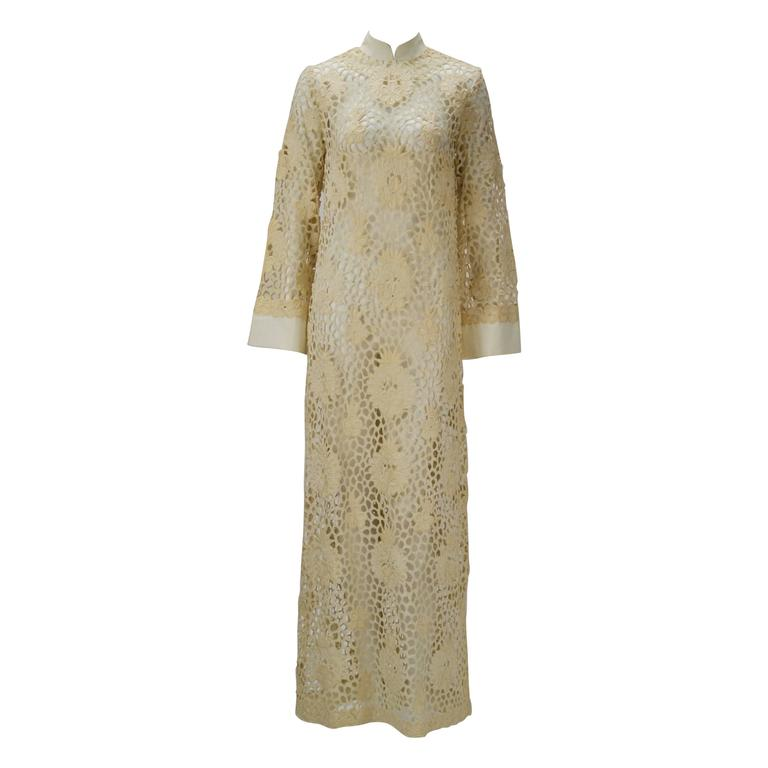 Embroidered Lace Kaftan, 1960s
