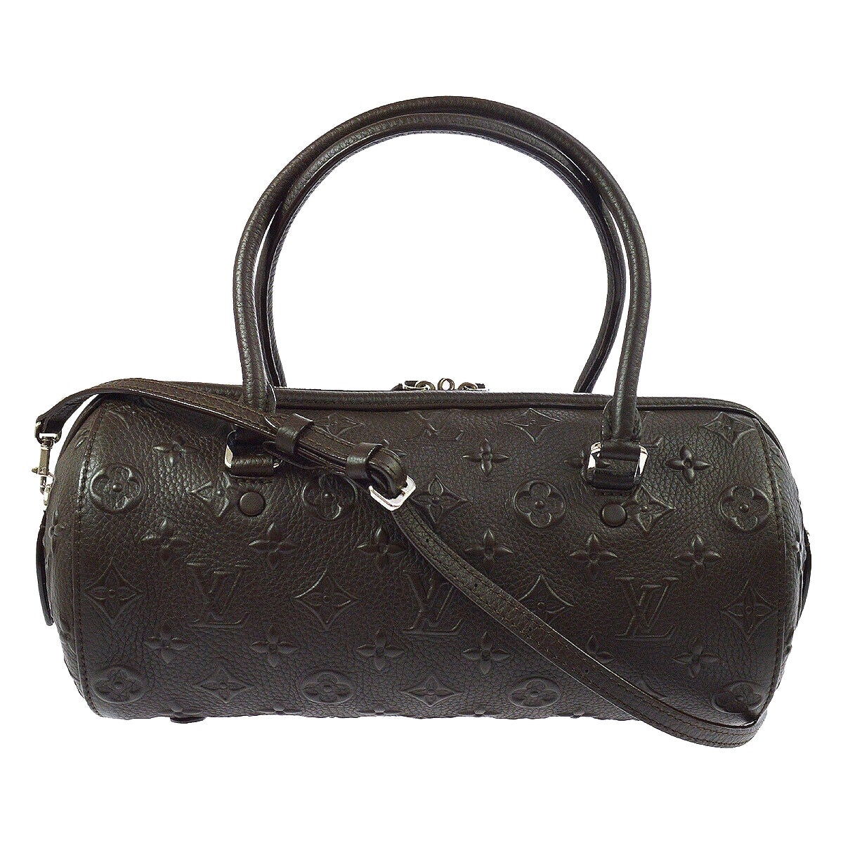 Louis Vuitton Monogram Choc Brown Leather Top Handle Satchel Shoulder Bag