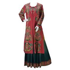 Ashima & Leena Singh 3 Piece Silk Multi Color Indian Ensemble