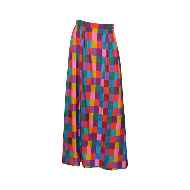 Vintage Valentino Boutique 1970s Maxi Skirt
