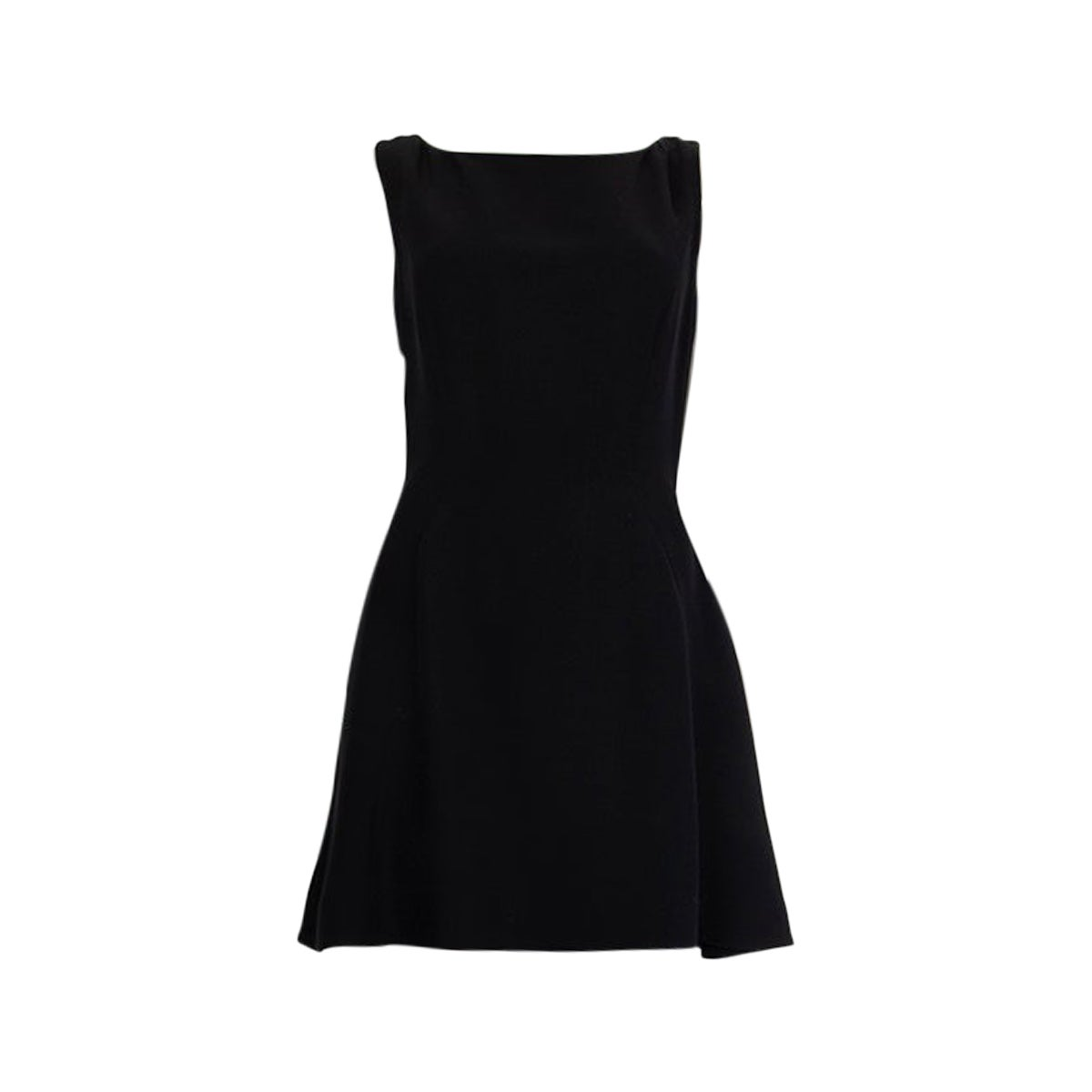CHRISTIAN DIOR black silk Sleeveless MINI Cocktail Dress 38 S