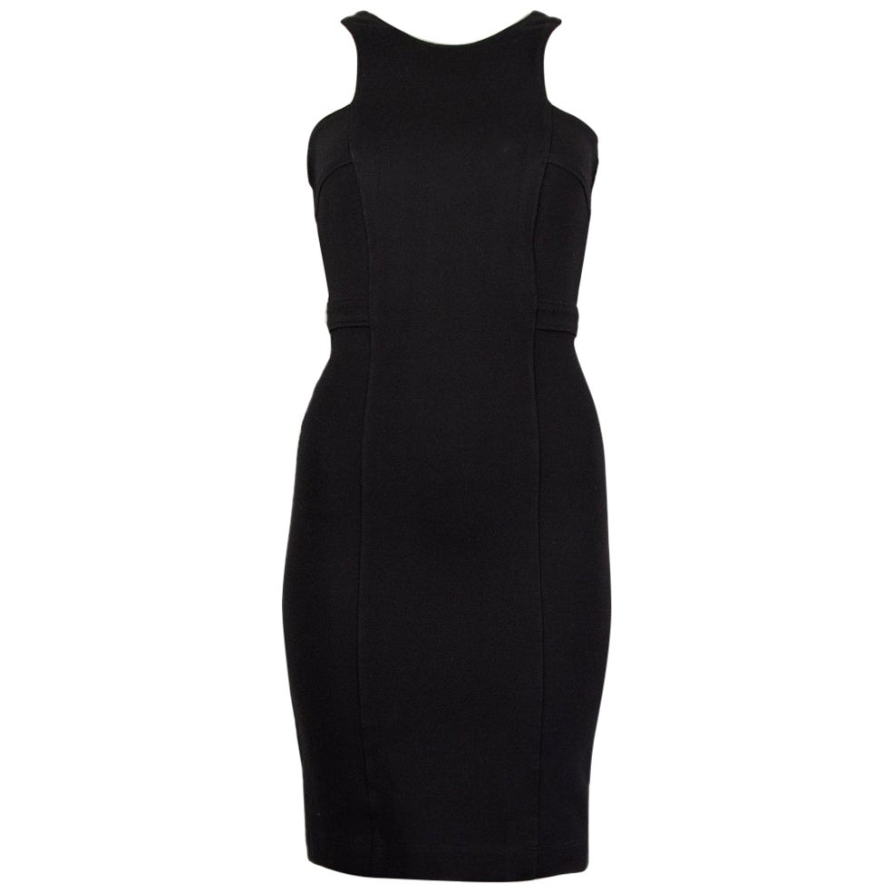GUCCI black viscose OPEN BACK Cocktail Dress XS