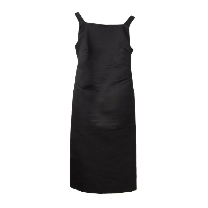 GUCCI black silk OPEN BACK Cocktail Dress 38