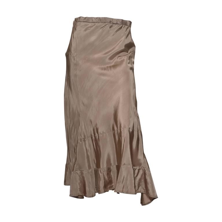 Comme des Garcons Taupe Drawstring Waist Skirt