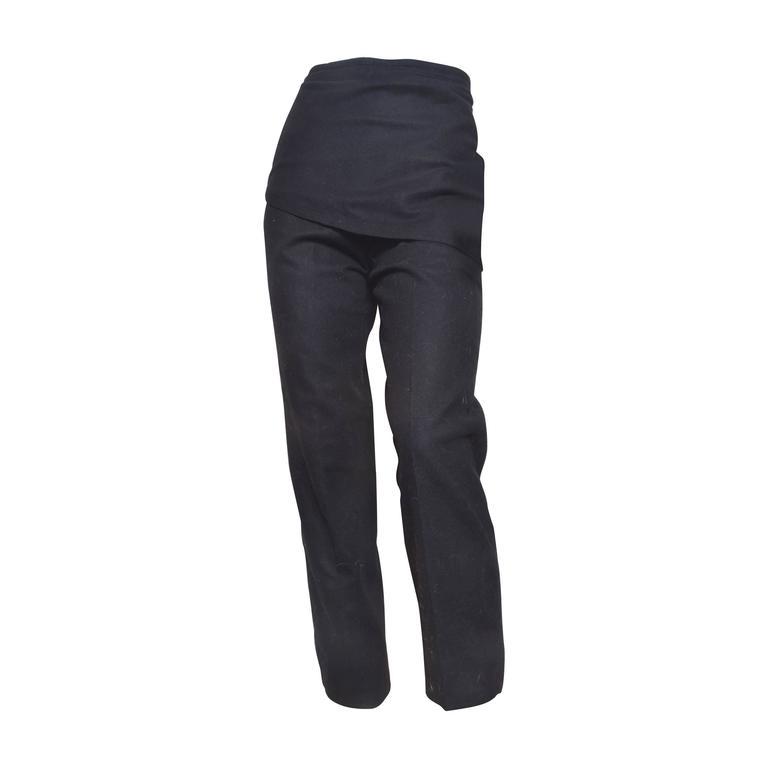 GIanni Versace Black Wool Pants