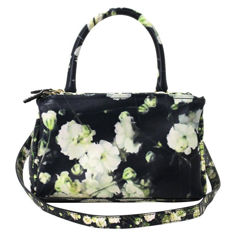 Givenchy Black Leather Babys Breath Pandora Messenger Bag 1