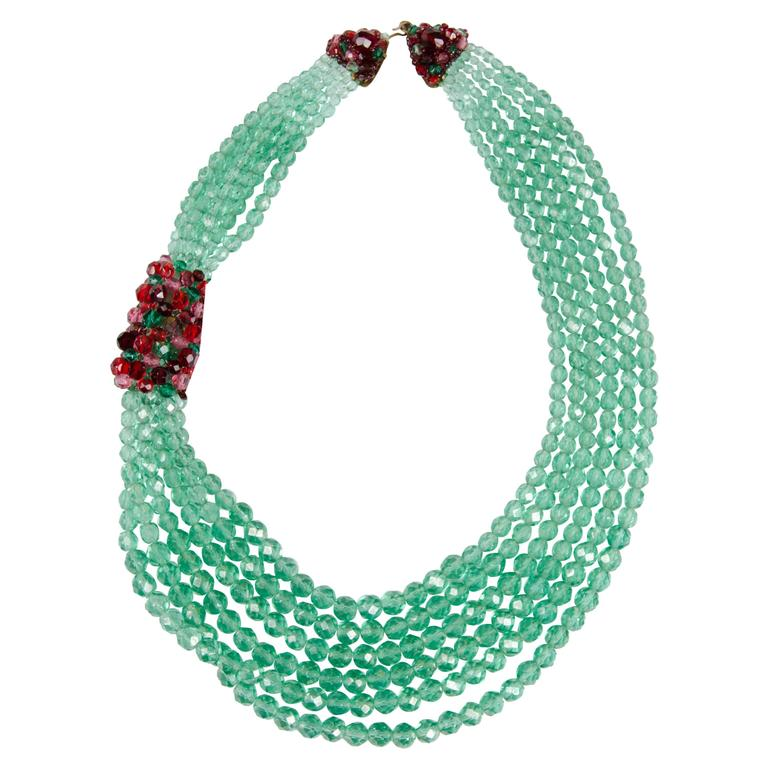 Coppola e Toppo multi row bead necklace, 1950s 1