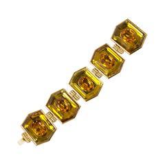 Yves Saint Laurent geometric bracelet, 1980s.