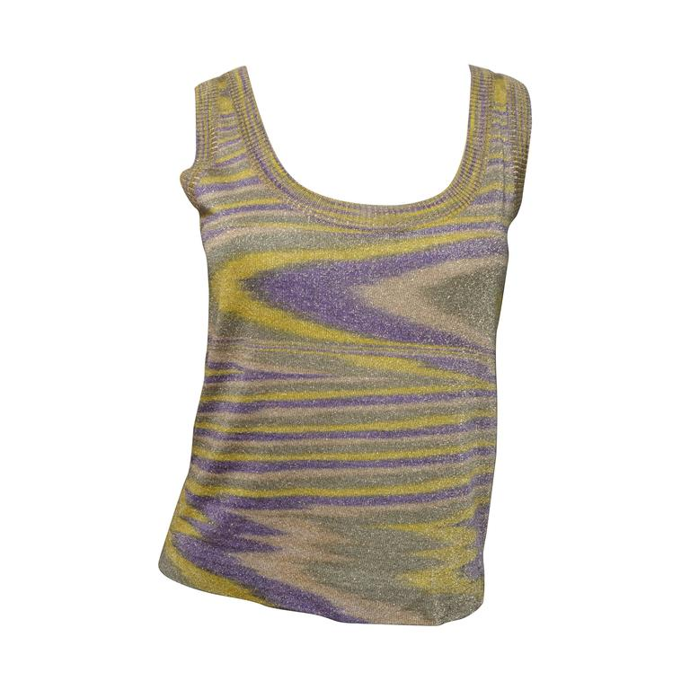 Missoni Metallic Woven Tank Top