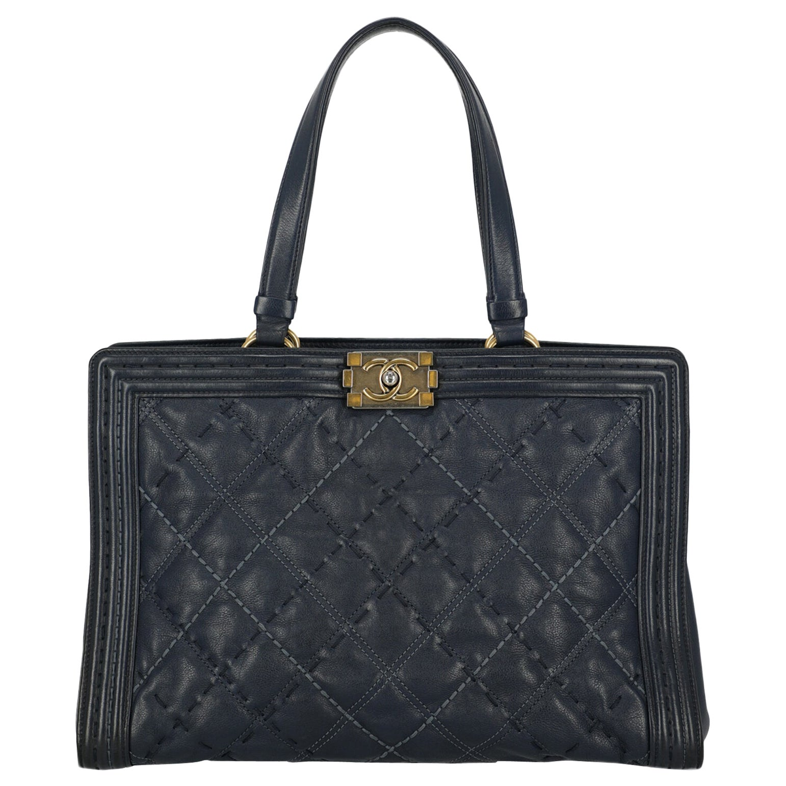 Chanel Woman Boy Tote Navy
