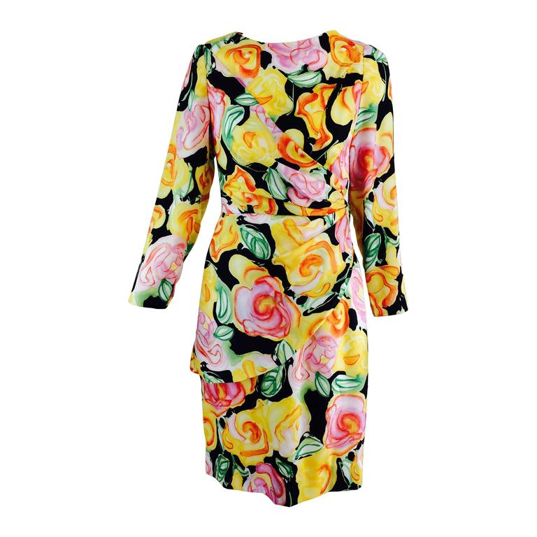 Fiandaca silk floral day dress 1990s