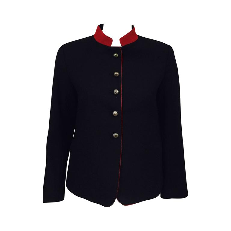 Nili Lotan Wool and Cashmere Blend Military Jacket For Sale