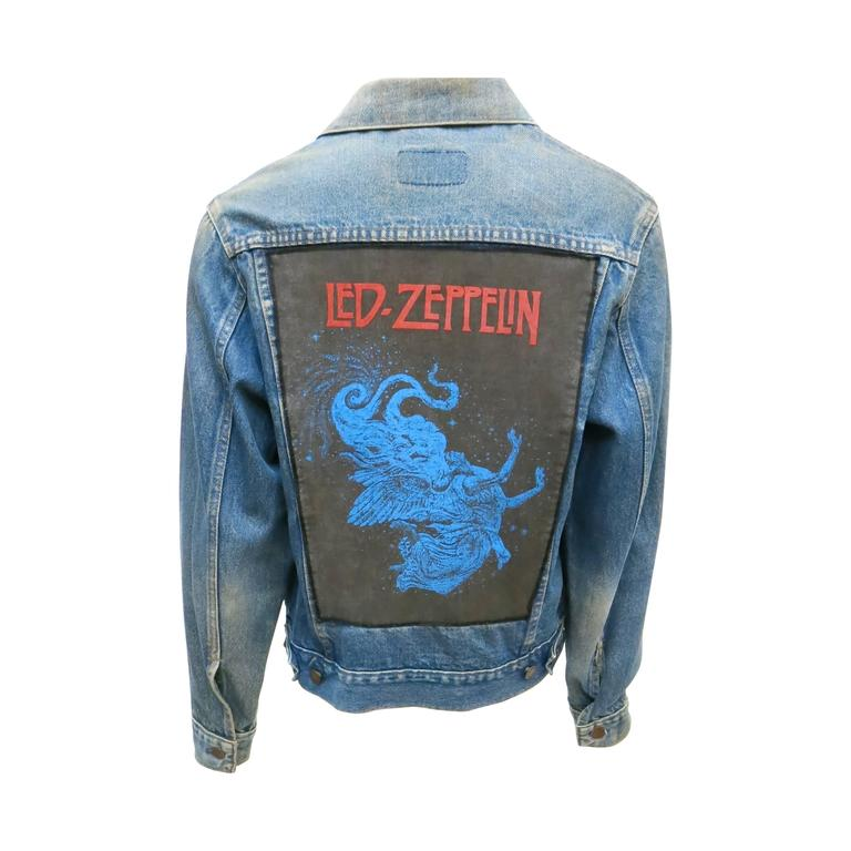 1970s Sears Roebuck and Co. Led Zeppelin Denim Jacket For Sale
