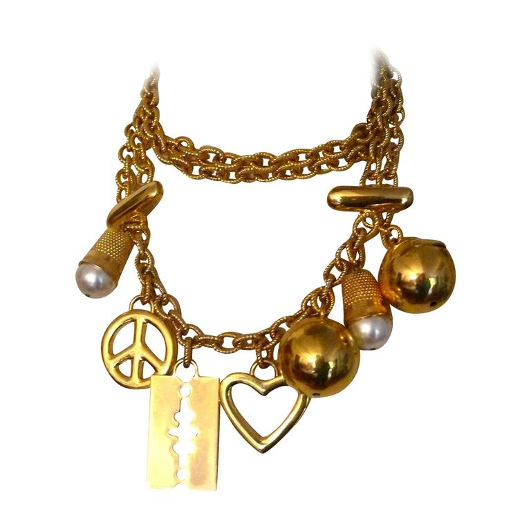 Moschino Vintage Necklace/Belt with Charms 1