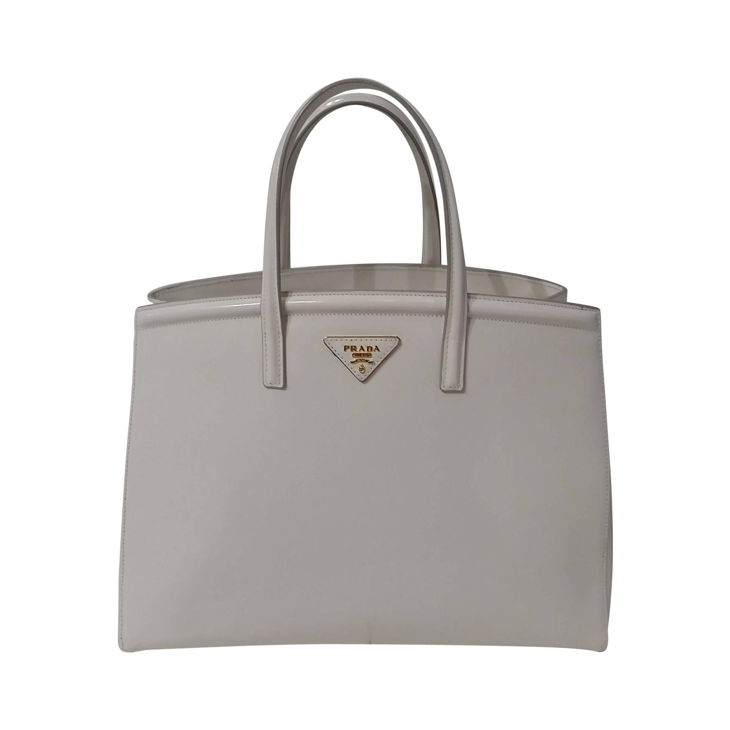 2000s Prada white leather bag For Sale at 1stdibs