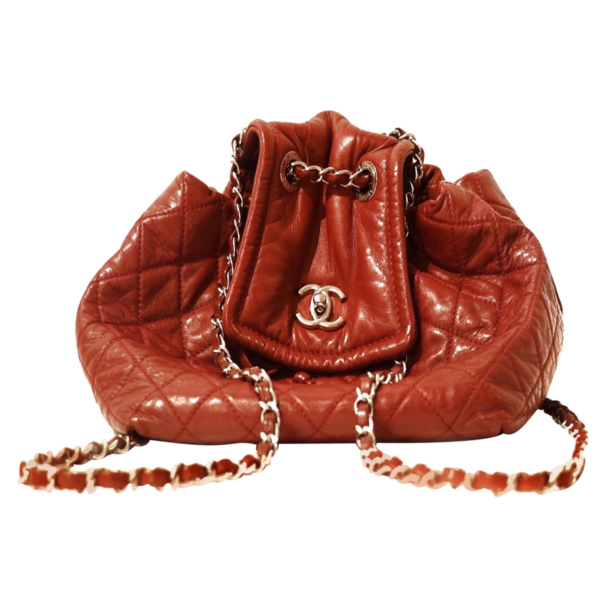 Chanel Bordeaux Leather Backpack