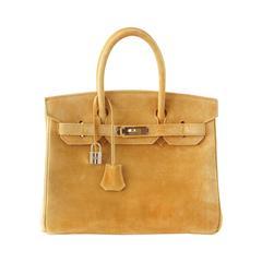 HERMES BIRKIN 30 bag rare Camel Doblis gold hardware