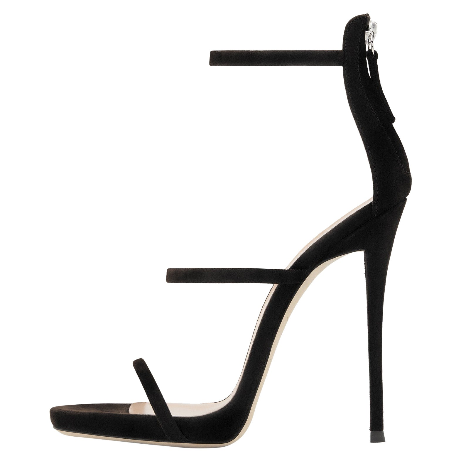 Giuseppe Zanotti NEW Black Suede Strappy Evening Sandals Heels in Box (IT 41)