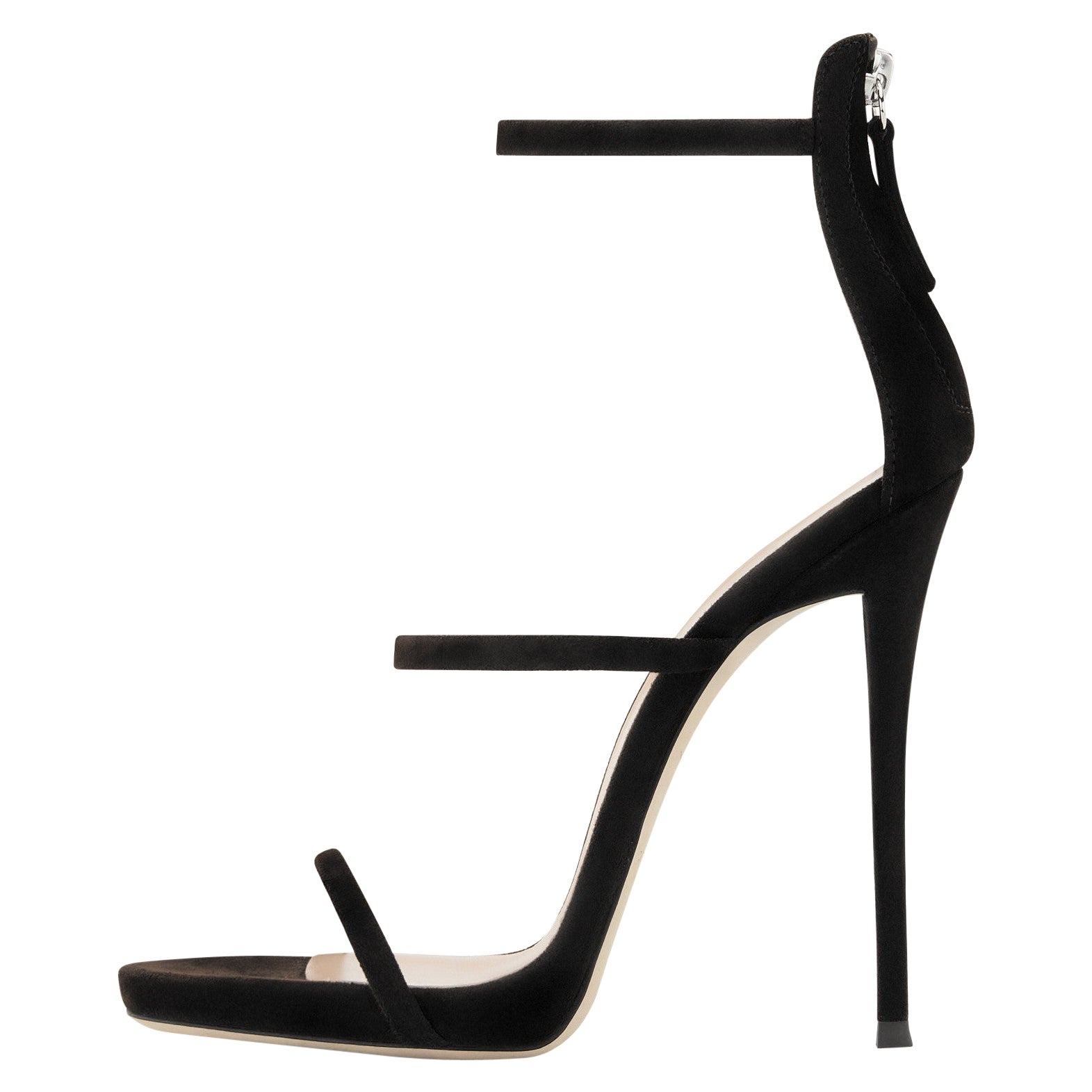 Giuseppe Zanotti NEW Black Suede Strappy Evening Sandals Heels in Box (IT 36)