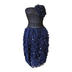Oscar de la Renta Corsage Cocktail Dress  New!