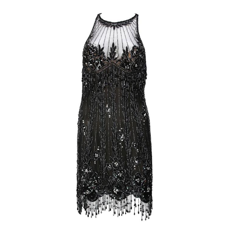 Bob Mackie 20s Inspired Beaded Gatsby Flapper Dress 1