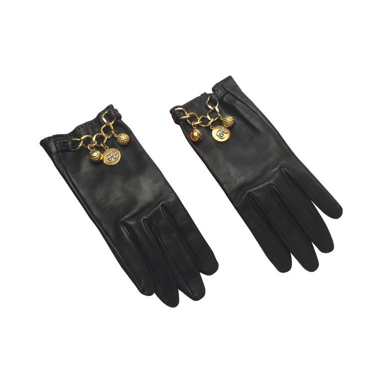 Rare Vintage Hermes Charm Gloves. at 1stdibs