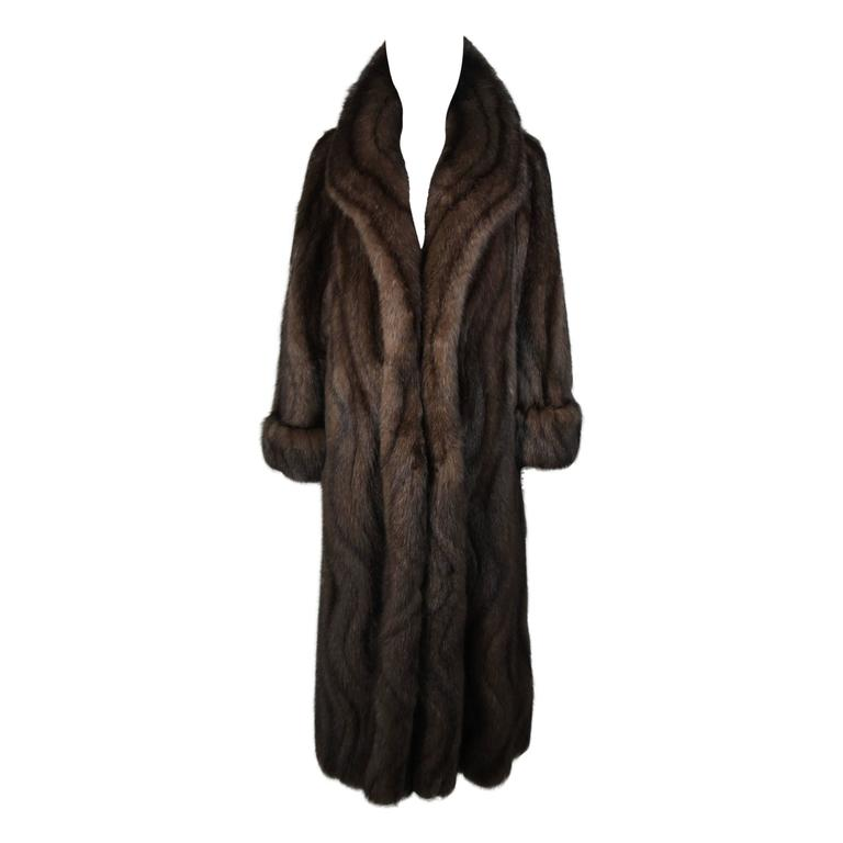 Russian Sable Coat with Wave Pattern Excellent Condition Retail $300,000.00 For Sale