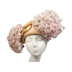 Jack McConnell Pink Bouquet Hat with Pink Flowers and Rhinestones Excellent