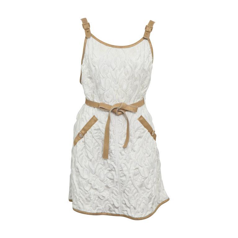 Chanel 13C Runway Brocade Versailles Dress White/Gold 1