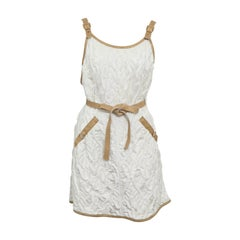 Chanel 13C Runway Brocade Versailles Dress White/Gold