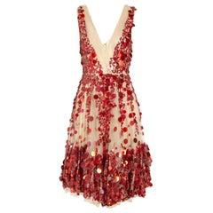 VALENTINO Embellished Tulle Dress as seen on JENNIFER LOPEZ