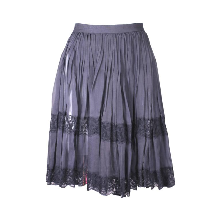 Balenciaga Silk Chiffon and Lace Mini