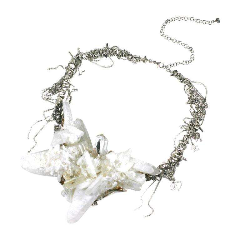 "Chanel Rock Crystal Runway ""Ice"" Necklace Fall 2010 For Sale"