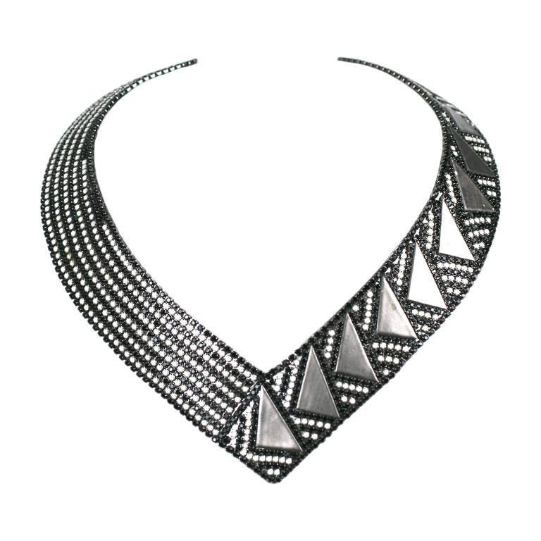 Roxanne Assoulin Deco Style Collar For Sale