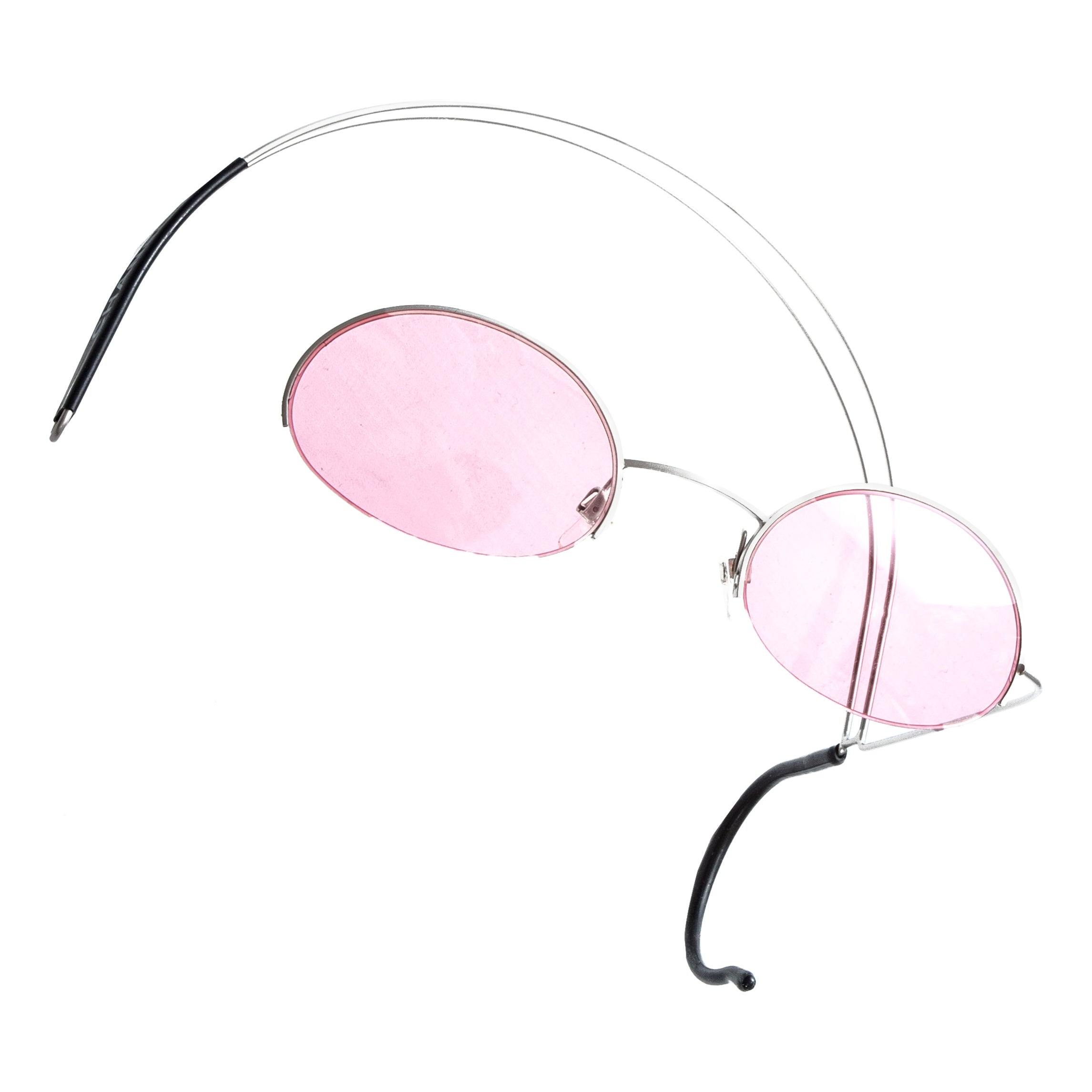 Chanel pink wire headband sunglasses, ss 1999
